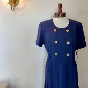 Liz Claiborne Navy Blue Vintage Dress Size 4